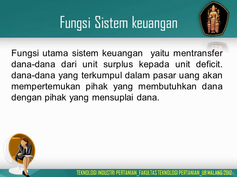 Fungsi Sistem keuangan
