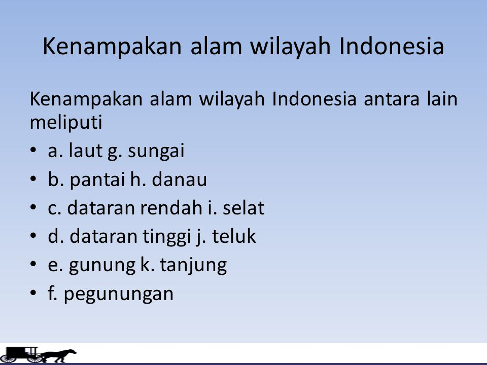 Kenampakan alam wilayah Indonesia