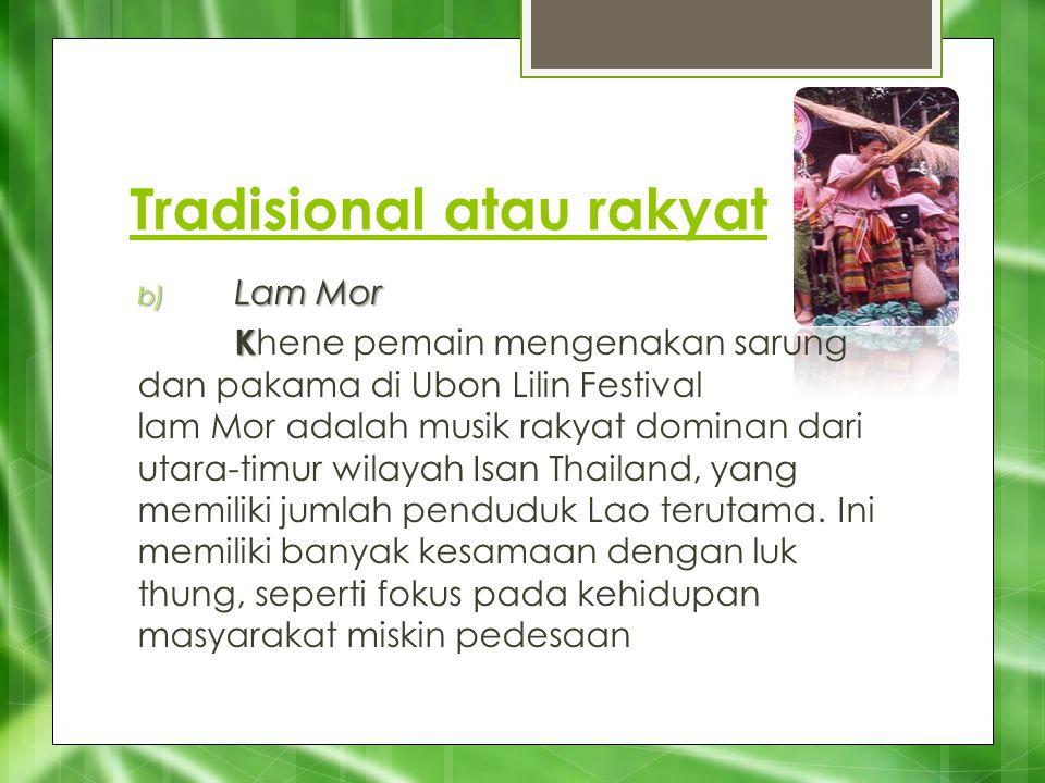 Tradisional atau rakyat