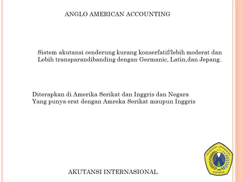 ANGLO AMERICAN ACCOUNTING
