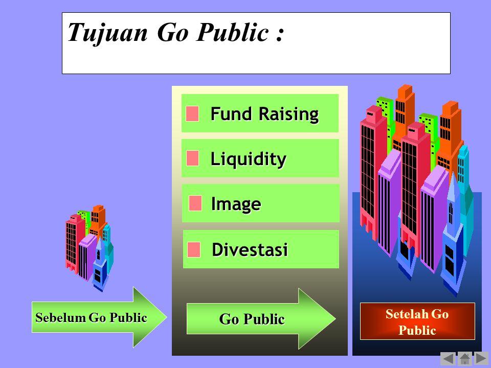 Tujuan Go Public : Fund Raising Liquidity Image Divestasi Go Public