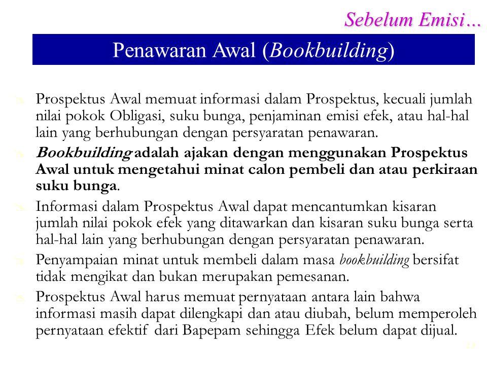 Penawaran Awal (Bookbuilding)