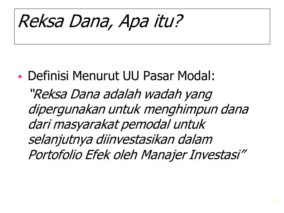 Reksa Dana, Apa itu Definisi Menurut UU Pasar Modal:
