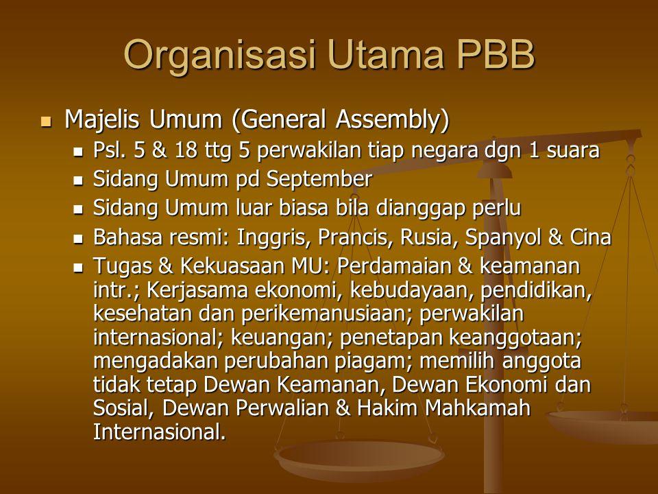 Organisasi Utama PBB Majelis Umum (General Assembly)