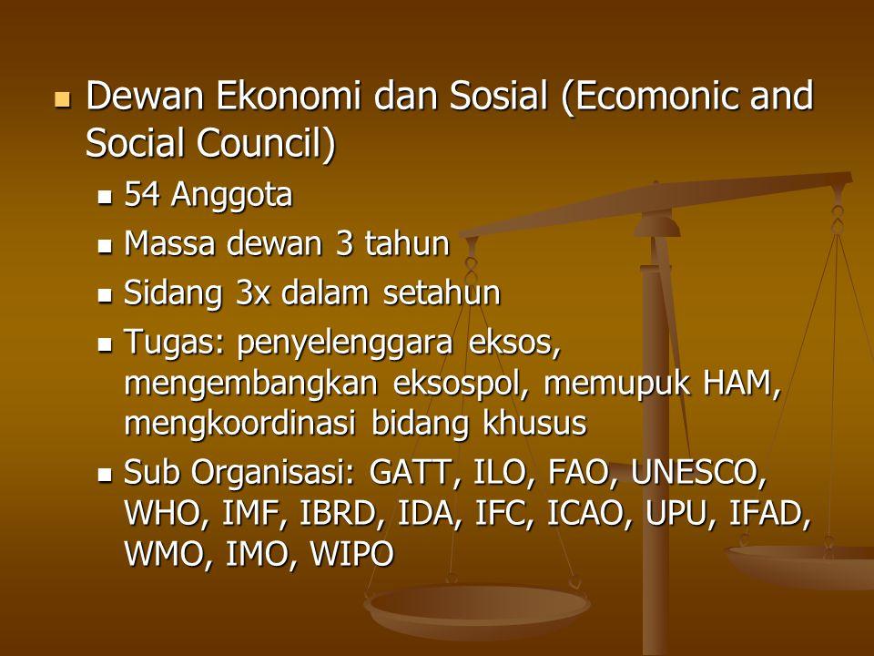 Dewan Ekonomi dan Sosial (Ecomonic and Social Council)