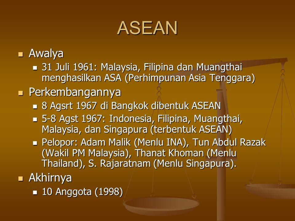 ASEAN Awalya Perkembangannya Akhirnya