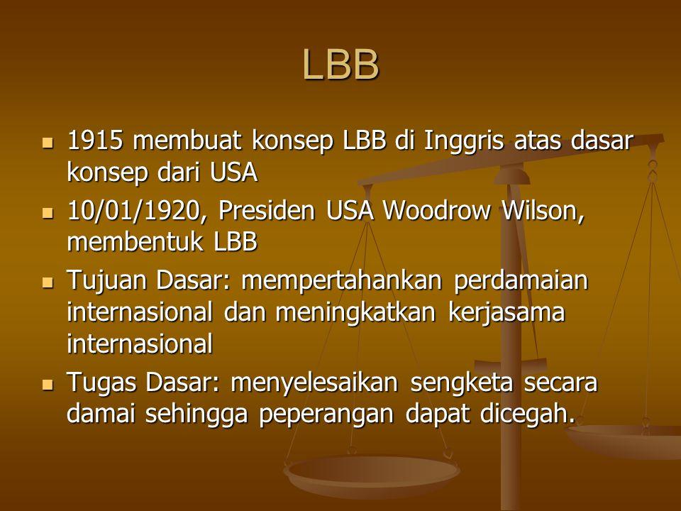 LBB 1915 membuat konsep LBB di Inggris atas dasar konsep dari USA
