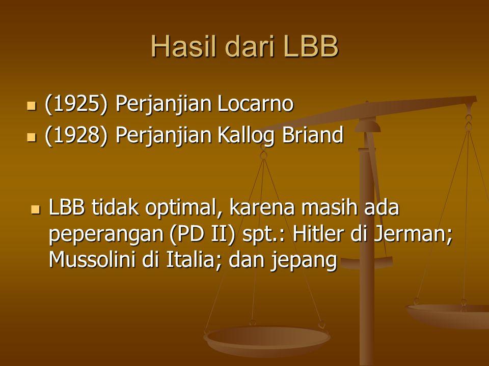 Hasil dari LBB (1925) Perjanjian Locarno
