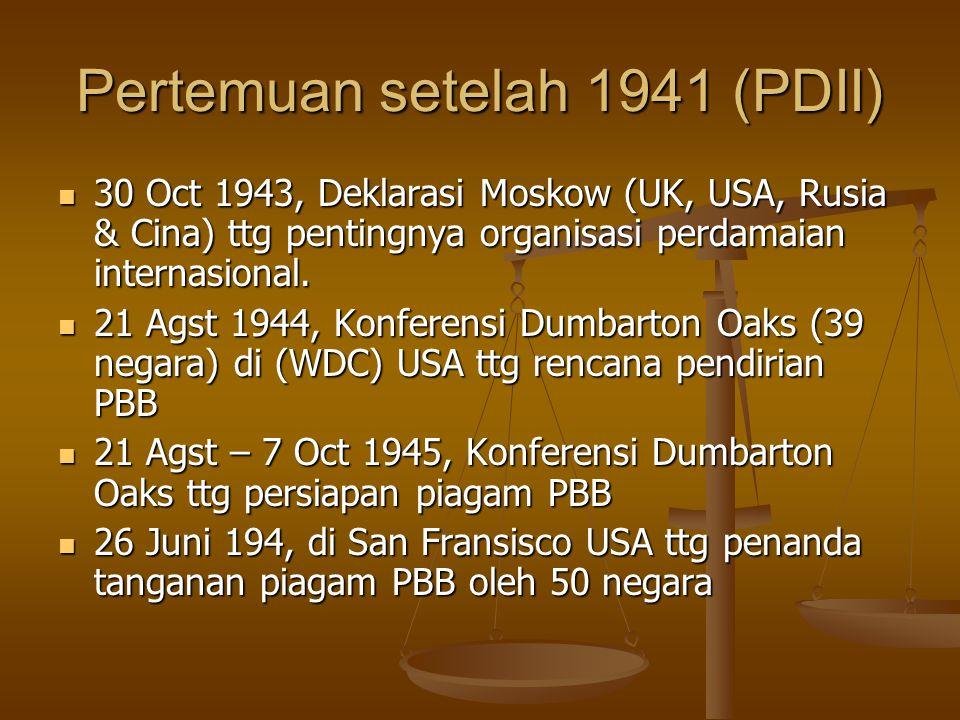 Pertemuan setelah 1941 (PDII)