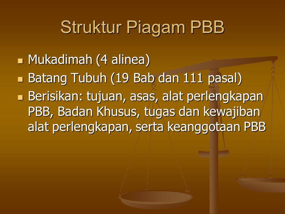 Struktur Piagam PBB Mukadimah (4 alinea)