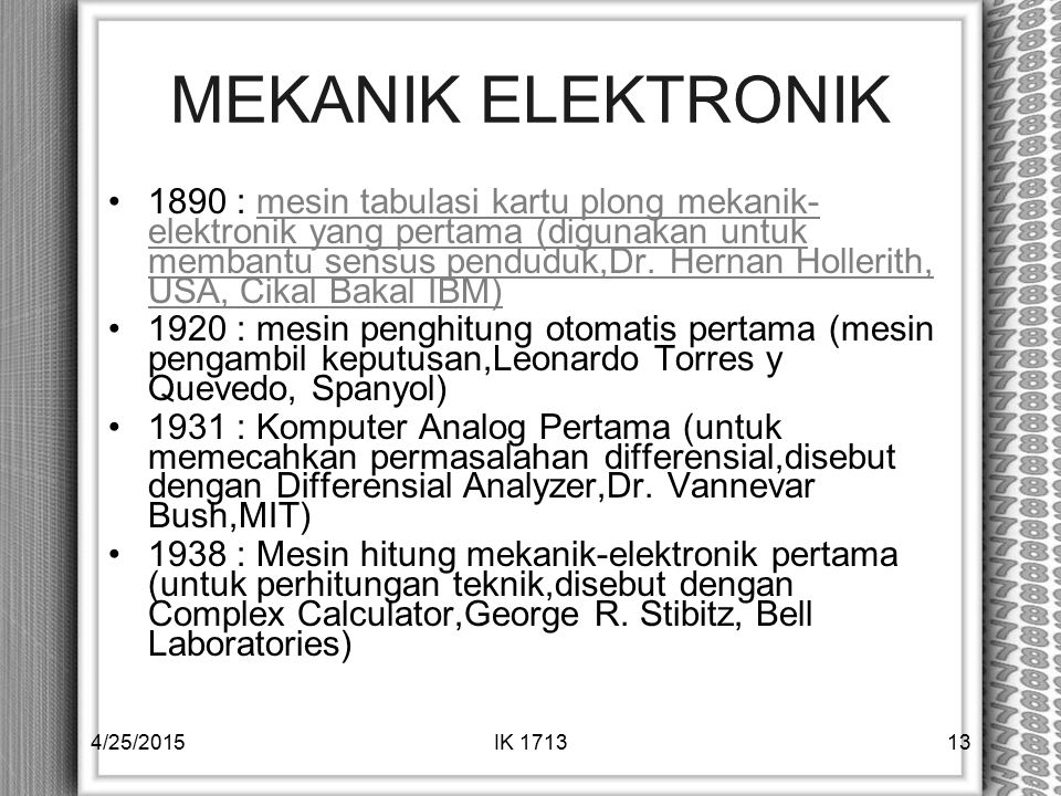 MEKANIK ELEKTRONIK