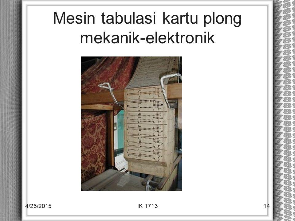 Mesin tabulasi kartu plong mekanik-elektronik