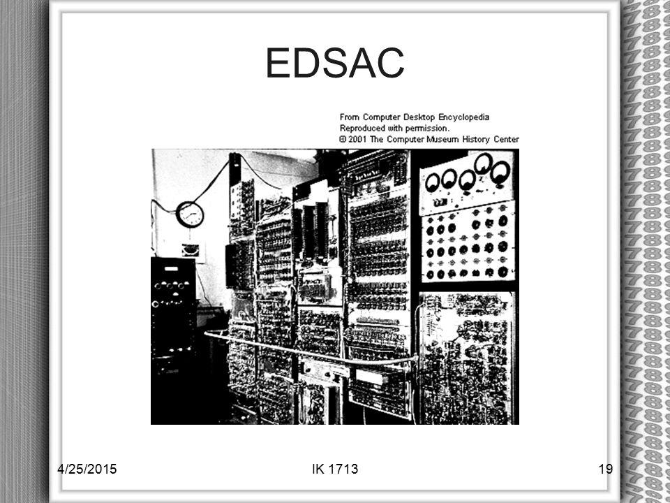 EDSAC 4/14/2017 IK 1713