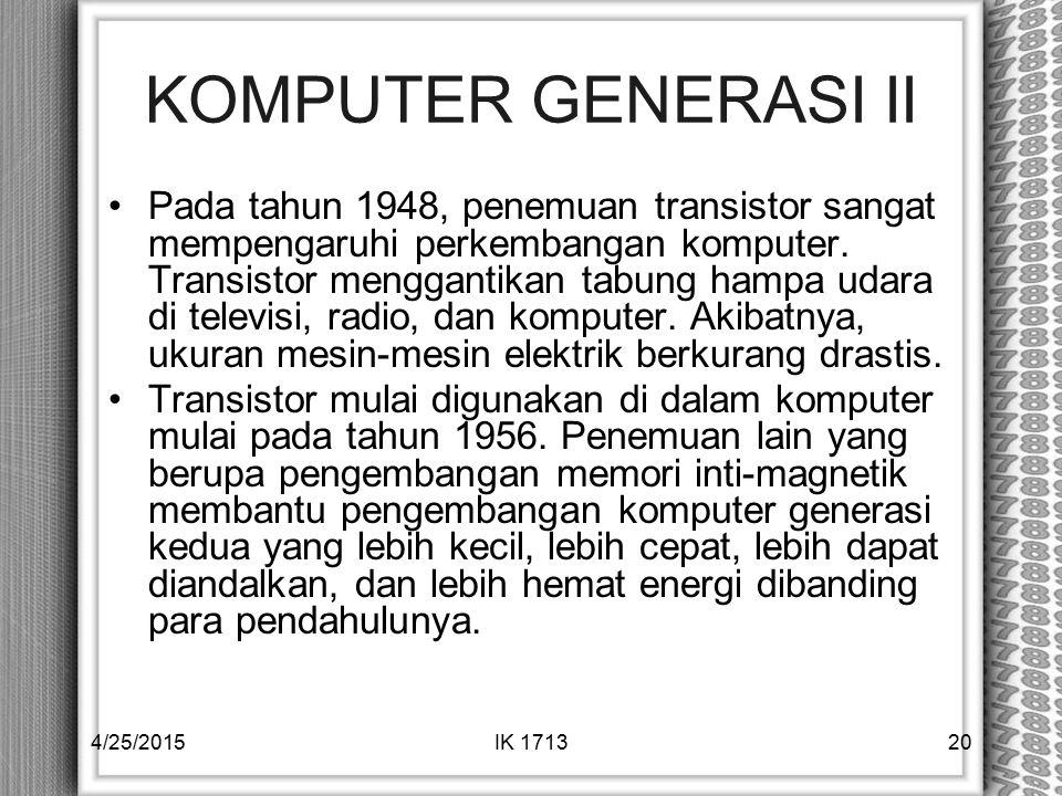 KOMPUTER GENERASI II