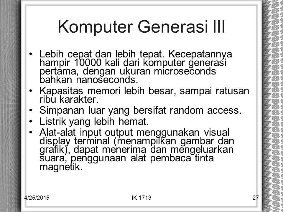 Komputer Generasi III