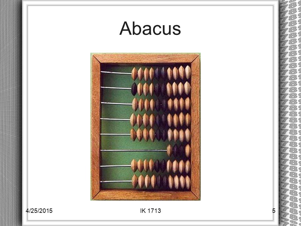 Abacus 4/14/2017 IK 1713