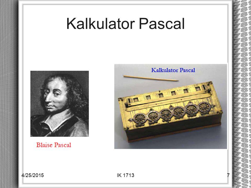Kalkulator Pascal 4/14/2017 IK 1713