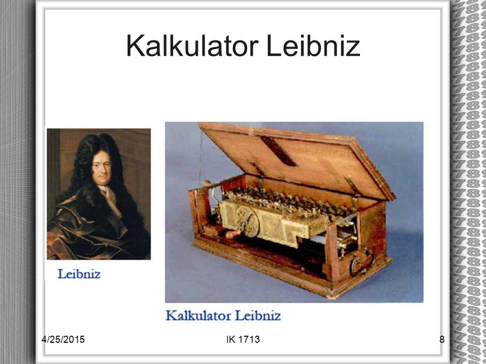Kalkulator Leibniz 4/14/2017 IK 1713