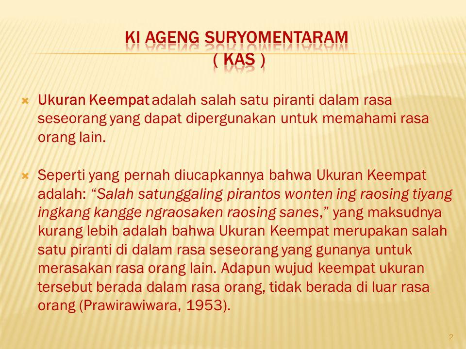 Ki ageng suryomentaram ( kas )