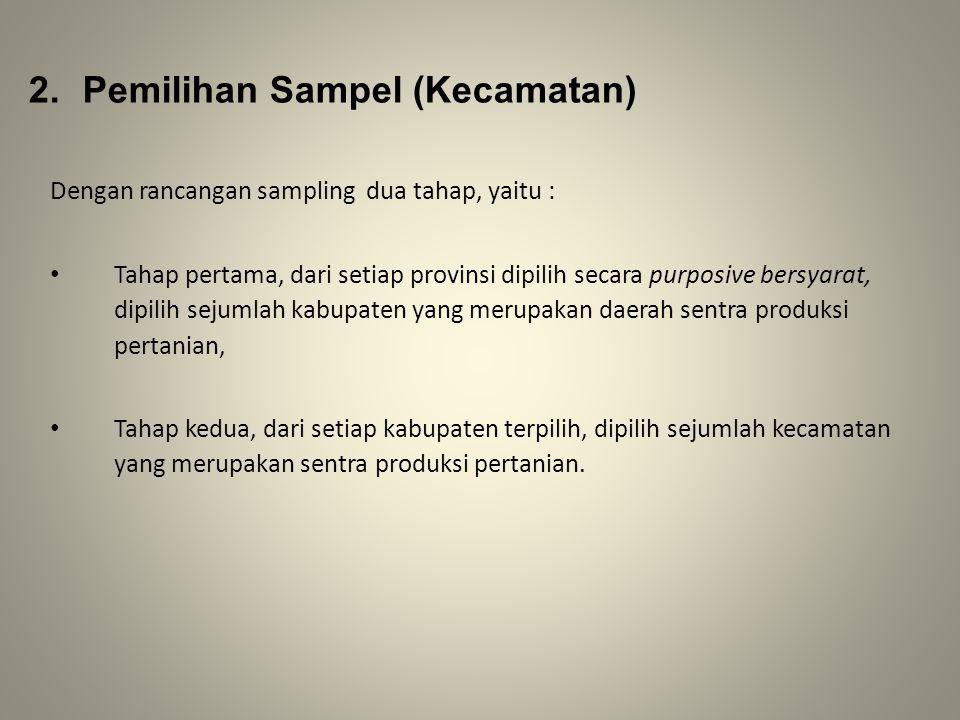 Pemilihan Sampel (Kecamatan)