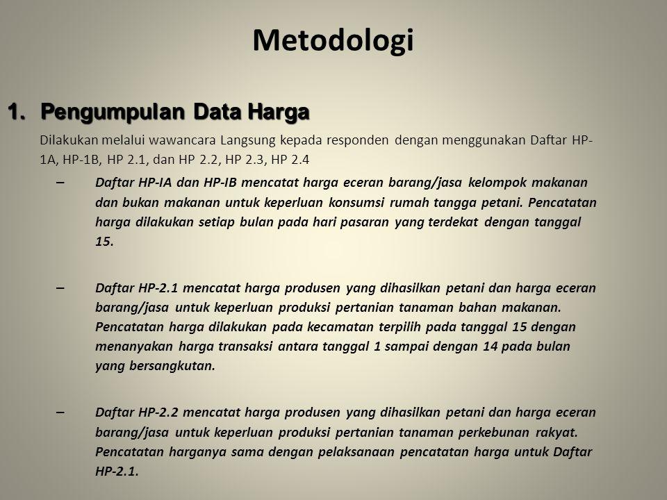 Metodologi Pengumpulan Data Harga