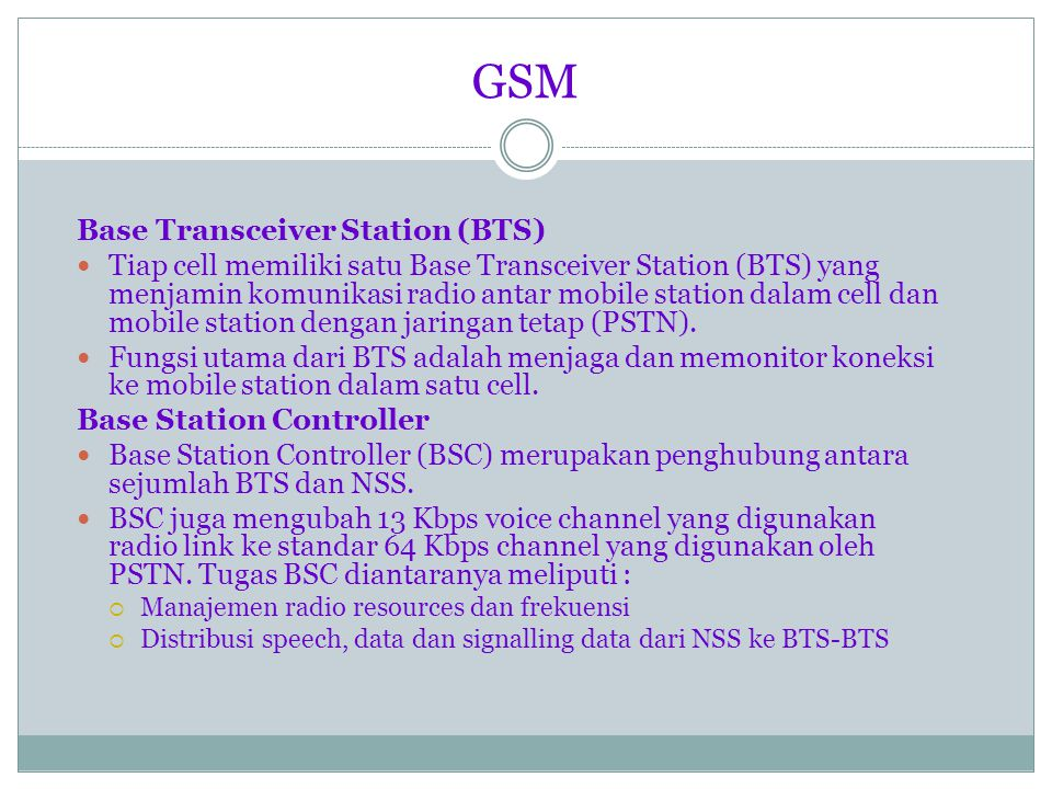 GSM Base Transceiver Station (BTS)