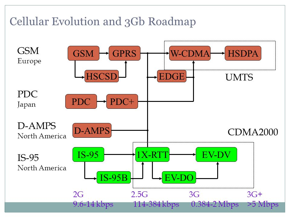 Cellular Evolution and 3Gb Roadmap