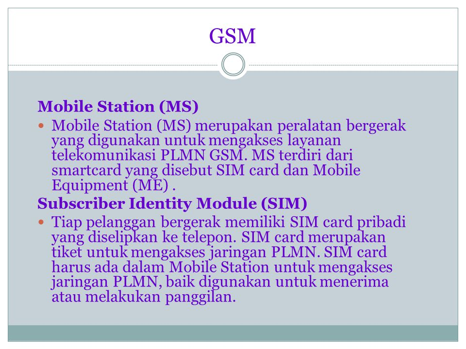 GSM Mobile Station (MS)