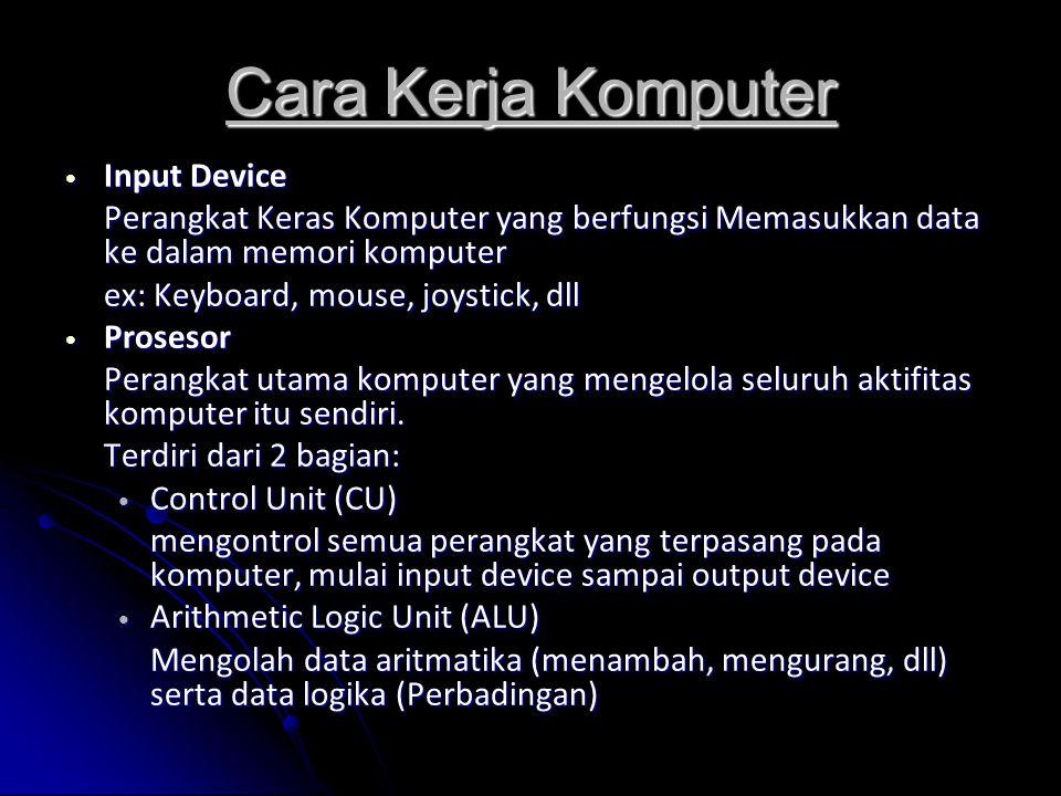 Cara Kerja Komputer Input Device