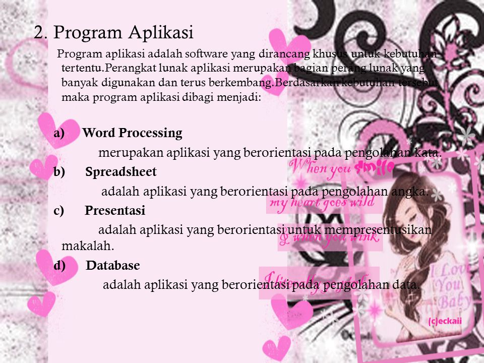 2. Program Aplikasi Word Processing