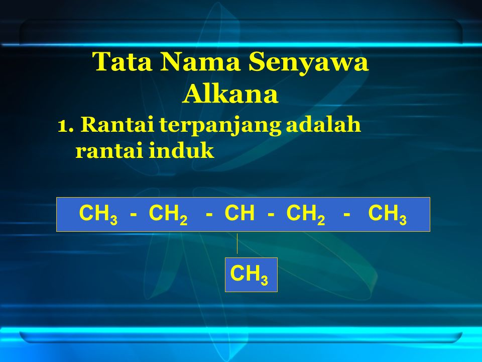 Tata Nama Senyawa Alkana