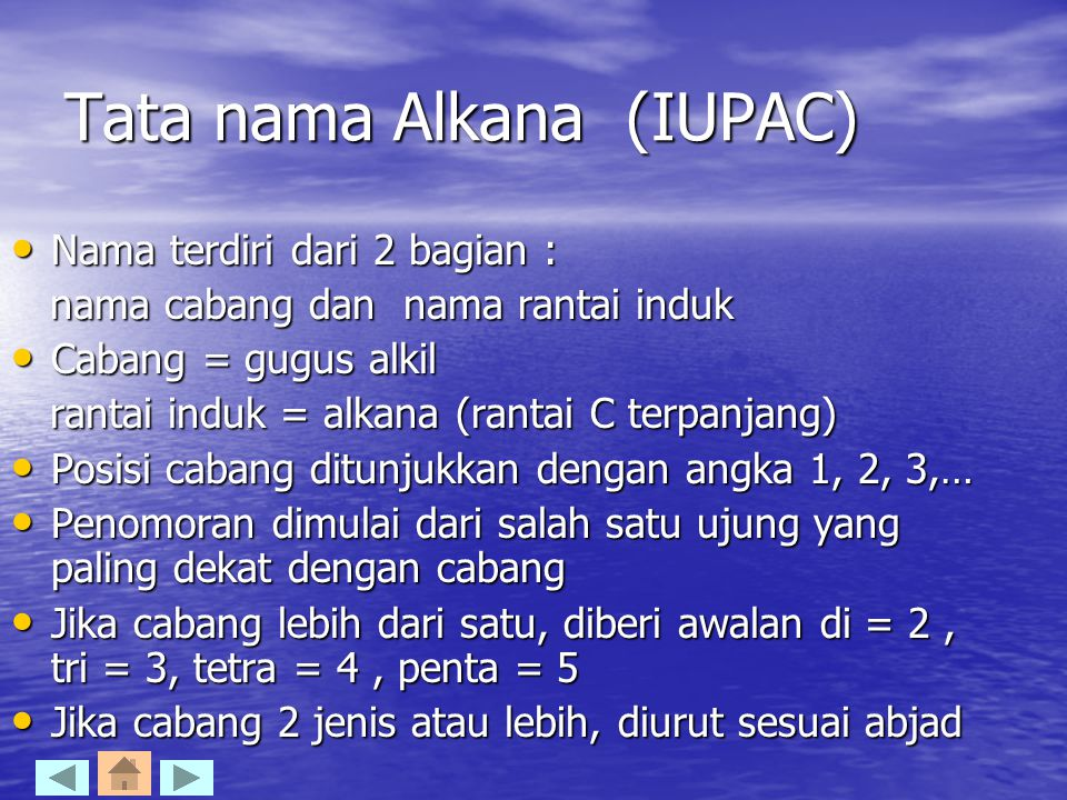 Tata nama Alkana (IUPAC)
