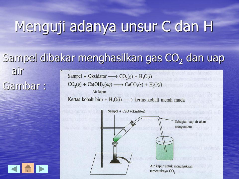 Menguji adanya unsur C dan H