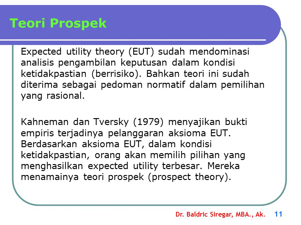Teori Prospek