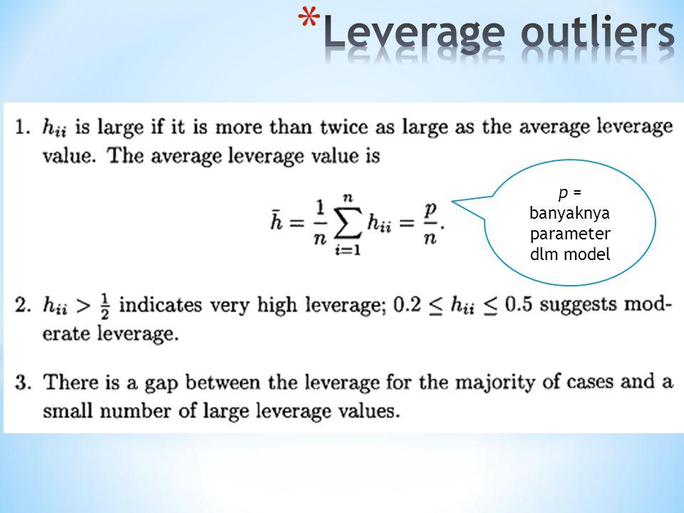 p = banyaknya parameter dlm model
