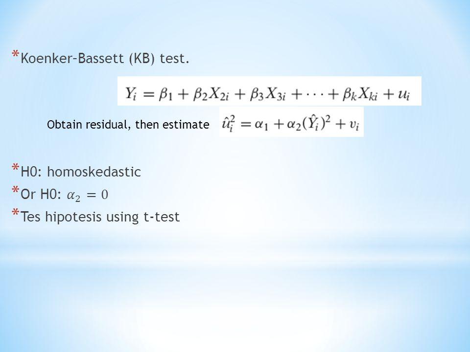 Koenker–Bassett (KB) test.