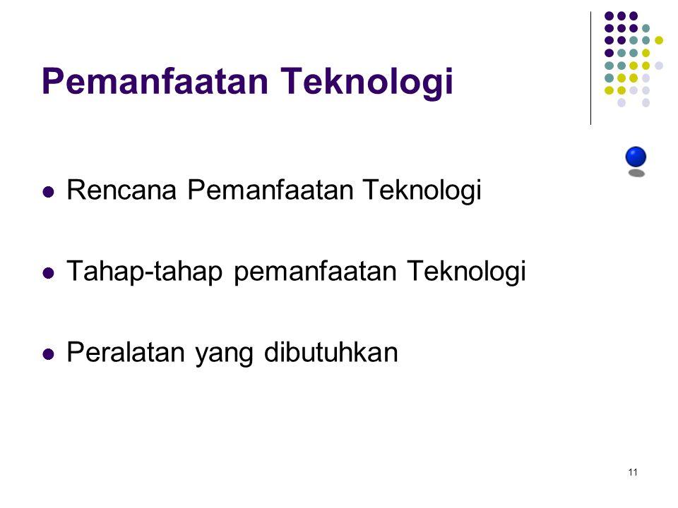 Pemanfaatan Teknologi