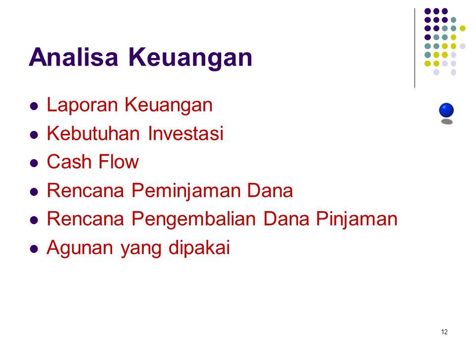 Analisa Keuangan Laporan Keuangan Kebutuhan Investasi Cash Flow