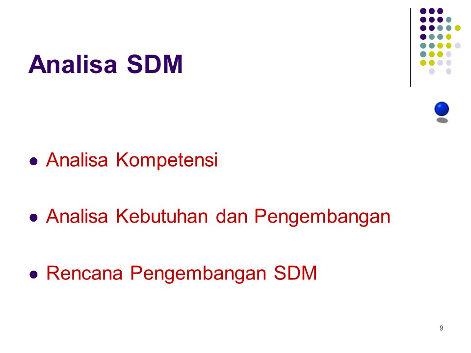 Analisa SDM Analisa Kompetensi Analisa Kebutuhan dan Pengembangan