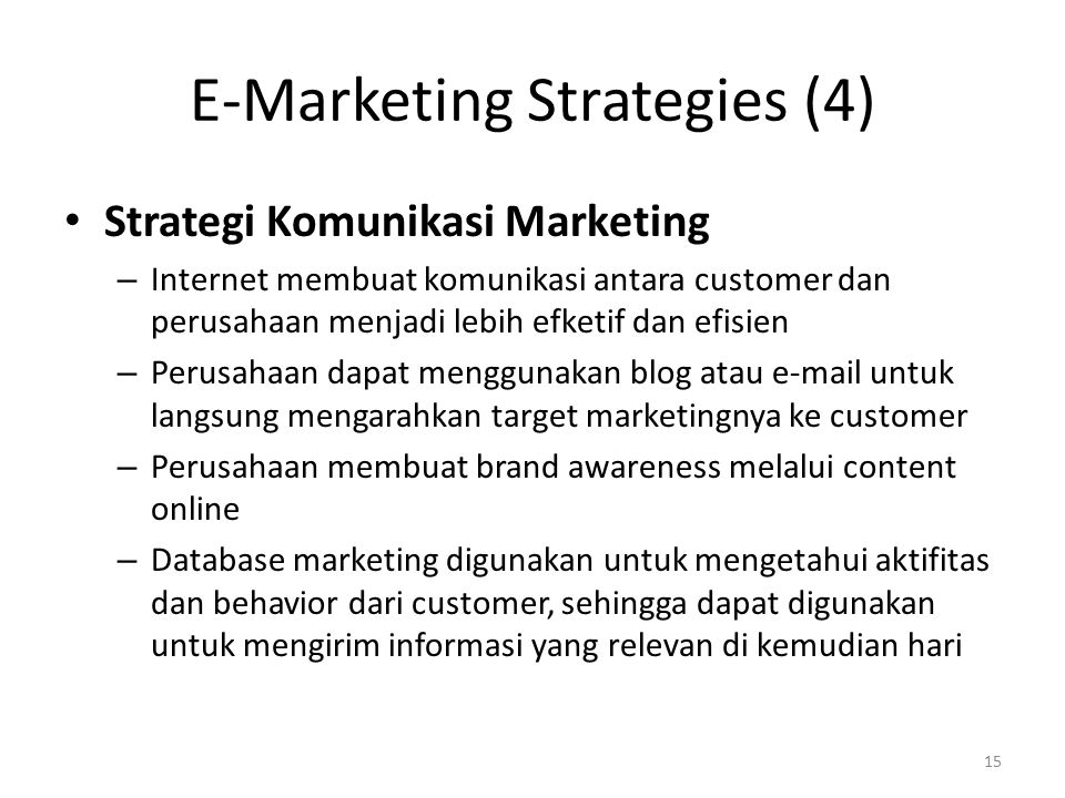 E-Marketing Strategies (4)