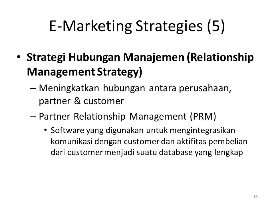 E-Marketing Strategies (5)