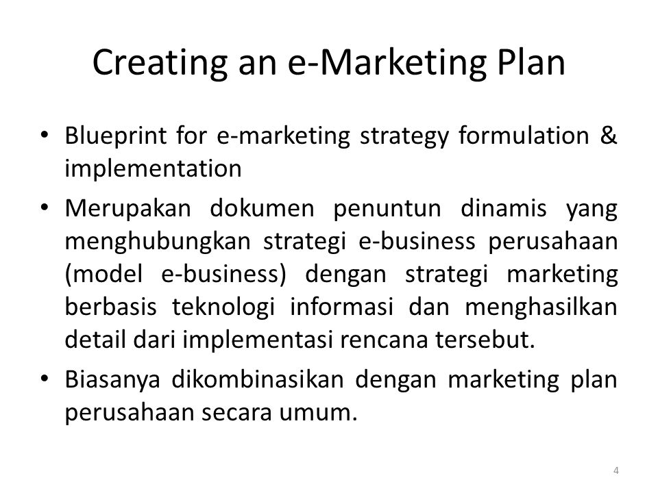Creating an e-Marketing Plan