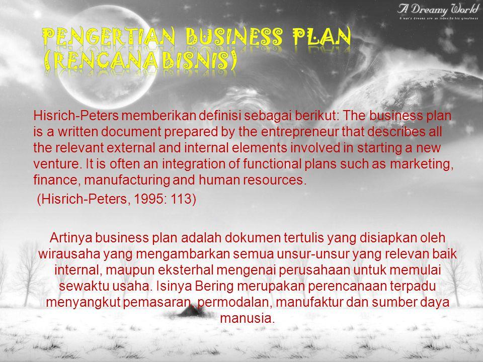 Pengertian Business Plan (Rencana Bisnis)