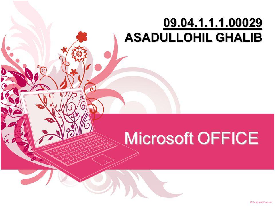 09.04.1.1.1.00029 ASADULLOHIL GHALIB Microsoft OFFICE