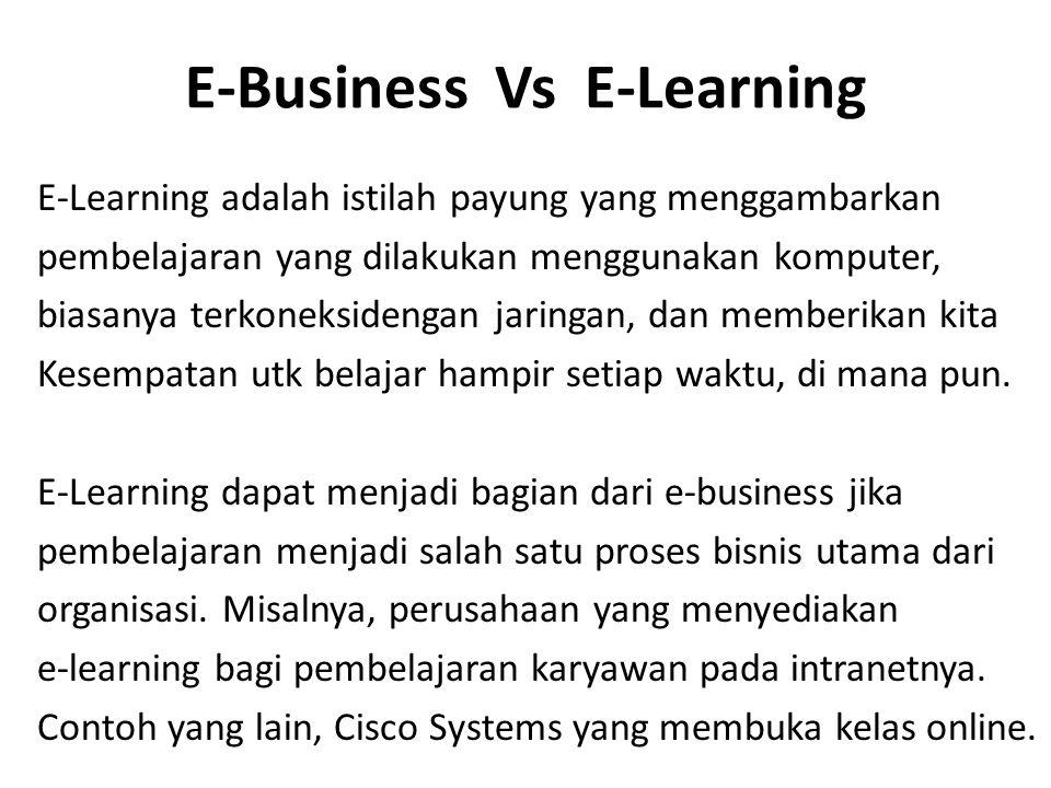 E-Business Vs E-Learning