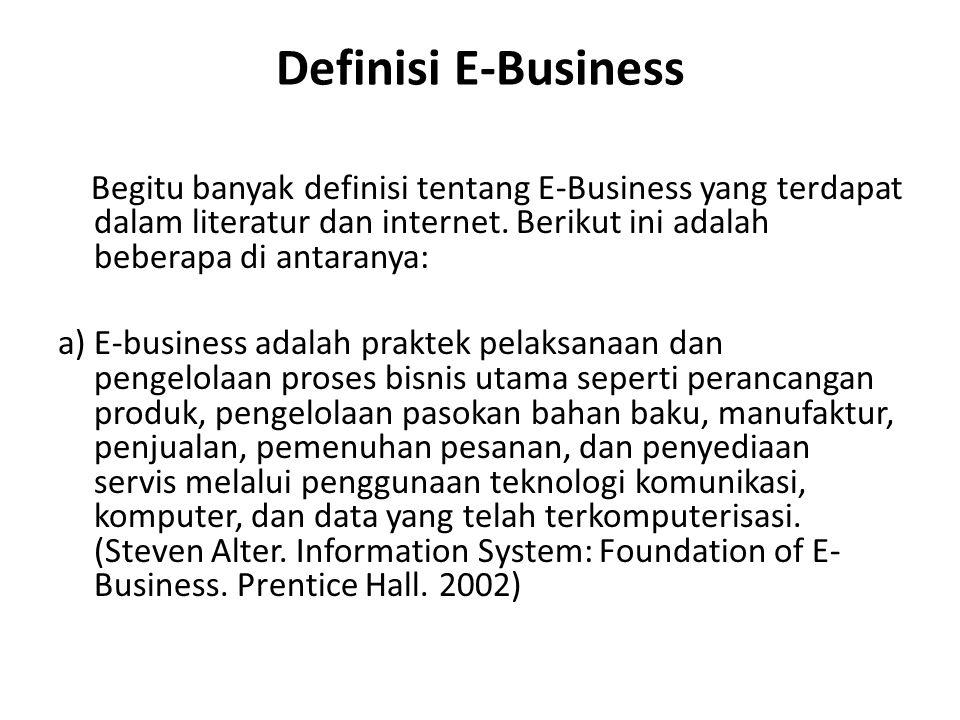 Definisi E-Business