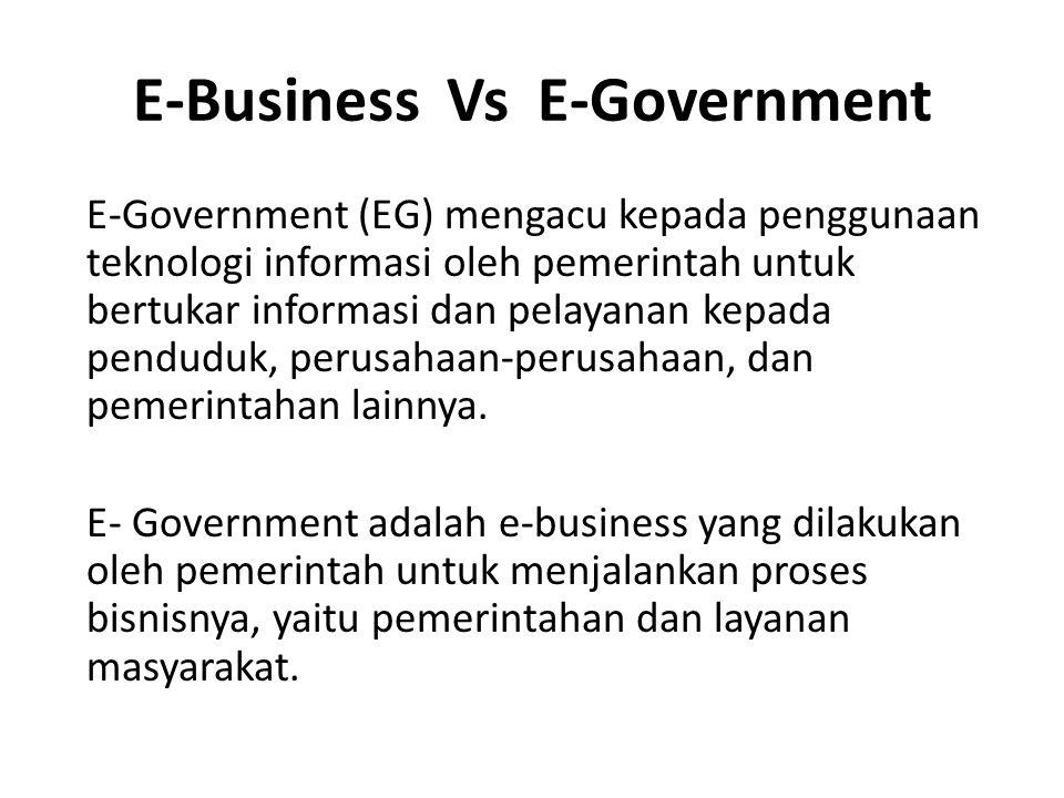 E-Business Vs E-Government