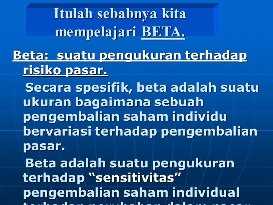 Itulah sebabnya kita mempelajari BETA.