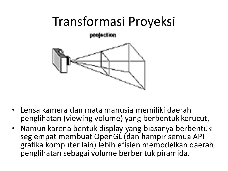 Transformasi Proyeksi