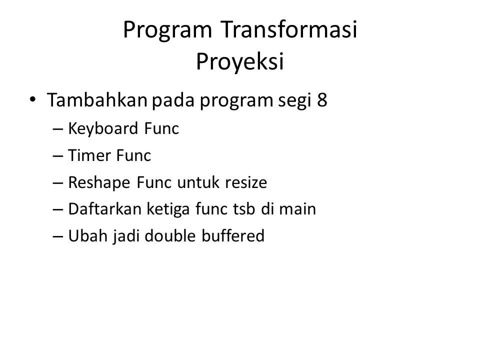 Program Transformasi Proyeksi